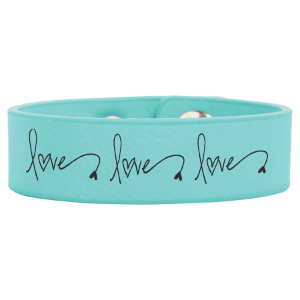 Teal Leatherette Youth Cuff Bracelet
