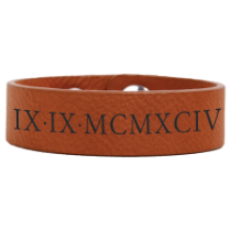Rawhide Leatherette Youth Cuff Bracelet