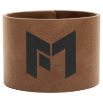 2 Dark Brown Leatherette Cuff Bracelet
