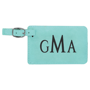 Teal Leatherette Luggage Tag
