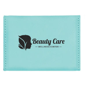 Teal Leatherette Hard Card Case with Magnetic Closure