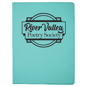 Teal Leatherette Portfolio with Notepad
