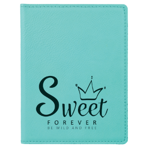 Teal Leatherette Passport Holder