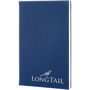Blue/Silver Leatherette Journal