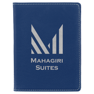 Blue/Silver Leatherette Passport Holder