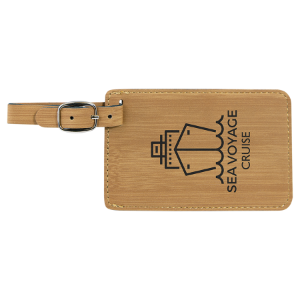 Bamboo Leatherette Luggage Tag