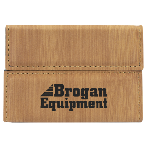 Bamboo Leatherette Hard Card Case with Magnetic Closure