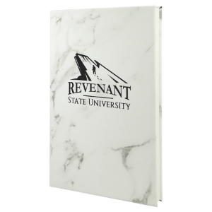 White Marble Leatherette Journal