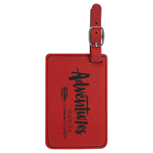 Red Laserable Leatherette Luggage Tag