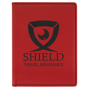 Red Laserable Leatherette Passport Holder