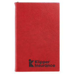 Red Laserable Leatherette Journal