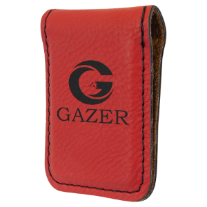 Red Laserable Leatherette Money Clip