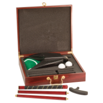 Rosewood Finish Executive Golf Set with 4-Piece Putter, 2 Balls & Ball Return