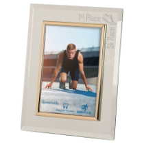 5 x 7 Glass & Gold Photo Frame