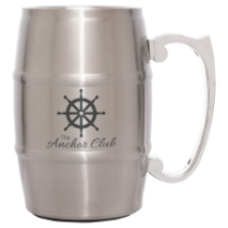 17 oz. Silver Barrel Mug with Handle