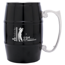 17 oz. Black Barrel Mug with Handle
