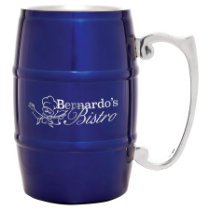 17 oz. Blue Barrel Mug with Handle