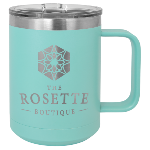 Teal 15 oz. Polar Camel Coffee Mug with Slider Lid