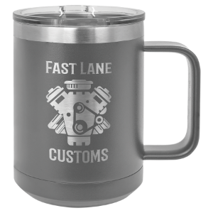 Dark Gray 15 oz. Polar Camel Coffee Mug with Slider Lid