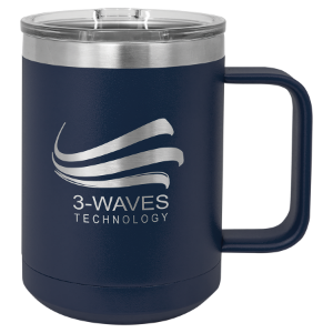 Navy Blue 15 oz. Polar Camel Coffee Mug with Slider Lid