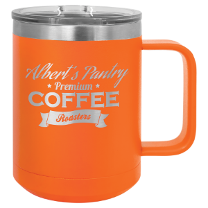 Orange 15 oz. Polar Camel Coffee Mug with Slider Lid