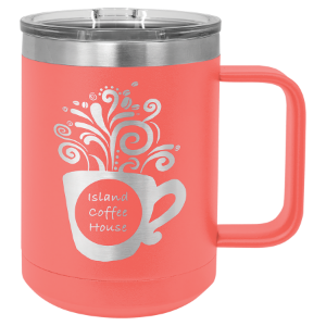 Coral 15 oz Polar Camel Coffee Mug with Slider Lid