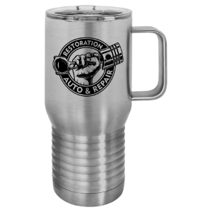 Stainless Steel Polar Camel 20 oz. Vacuum Insulated Travel Mug with Slider Lid