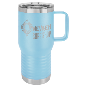 Light Blue Polar Camel 20 oz. Vacuum Insulated Travel Mug with Slider Lid