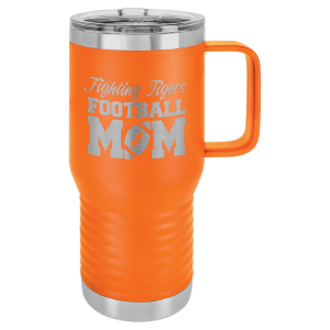 Orange Polar Camel 20 oz. Vacuum Insulated Travel Mug with Slider Lid