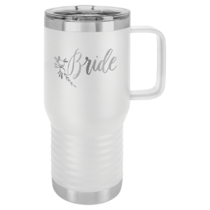 White Polar Camel 20 oz. Vacuum Insulated Travel Mug with Slider Lid