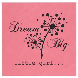 10 x 10 Pink Leatherette Wall Decor & Signage