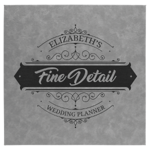 14 x 14 Gray Leatherette Wall Decor & Signage