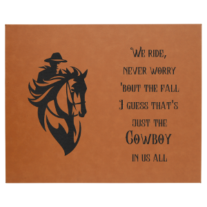 16 x 20 Rawhide Leatherette Wall Decor & Signage