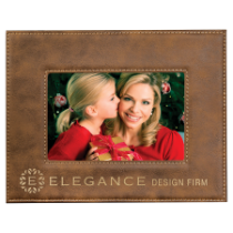 4 x 6 Rustic & Gold Leatherette Photo Frame