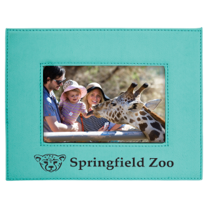 4 x 6 Teal Leatherette Photo Frame