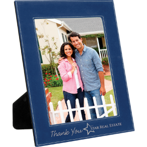 Blue/Silver 8 x 10 Leatherette Photo Frame