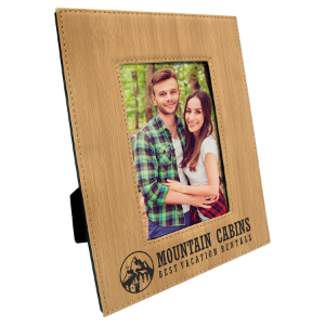 Bamboo 4 x 6 Leatherette Photo Frame