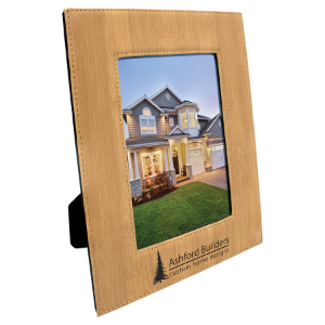 Bamboo 5 x 7 Leatherette Photo Frame