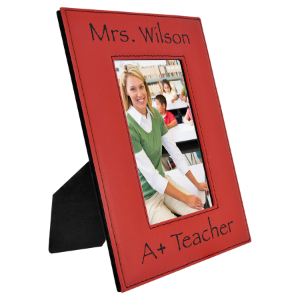 4 x 6 Red Laserable Leatherette Photo Frame