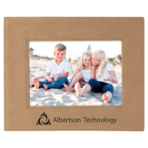 5 x 7 Light Brown Leatherette Photo Frame