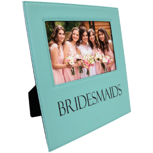 Teal 5 x 7 Leatherette Photo Frame with Engraving Area