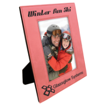 4 x 6 Pink Leatherette Photo Frame
