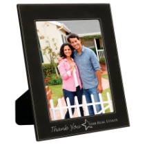 8 x 10 Black & Silver Leatherette Photo Frame