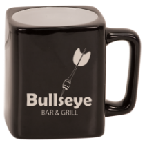 8 oz. Black Square Ceramic Mug