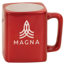 8 oz. Red Square Ceramic Mug