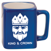 8 oz. Blue Square Ceramic Mug