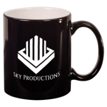 11 oz. Black Round Ceramic Mug