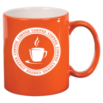 11 oz. Orange Round Ceramic Mug