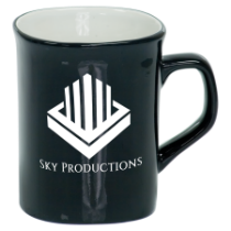 10 oz. Black Ceramic Rounded Corner Mug