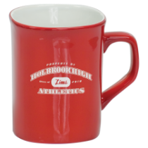 10 oz. Red Ceramic Rounded Corner Mug